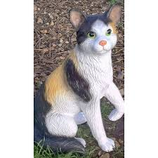 Cat Garden Decor Curious Cat Garden Ornament
