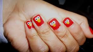 elmo nails how to paint a character nail nail painting on cut