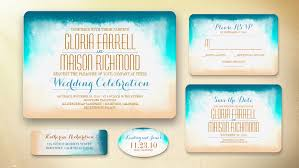 beachy wedding invitations read more ombre blue wedding invitations wedding