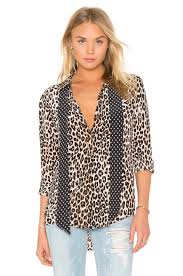 equipment signature blouse equipment kate moss for equipment slim signature cheetah print tie