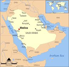 middle east map medina mecca map middle east