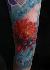 47 lotus in water tattoos u0026 designs