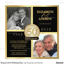lovable wedding anniversary invitations 50 wedding anniversary