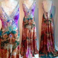 tie dye wedding dress backless wedding gown with and lace boho bridal dress