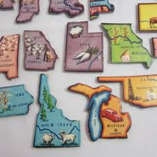 us map puzzle vintage usa map puzzle pieces 44 states from vintage southern