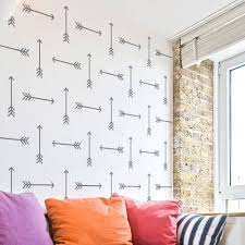 Reusable Wallpaper by Tribal Arrows Allover Wall Pattern Stencil Large Reusable Wall