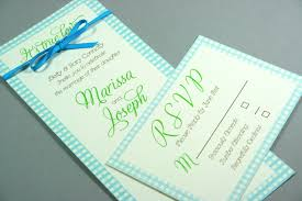 gingham print tiffany blue and kelly green country style wedding