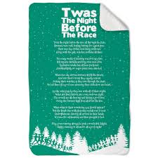 Twas The Night Before Halloween Poem Running Sherpa Fleece Blanket Twas The Night Before The Race