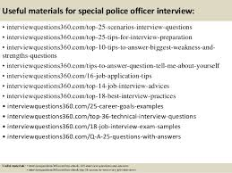 top 10 special police officer interview questions and answers