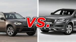 bmw x7 vs audi q7 bmw x5 vs audi q7 carsdirect