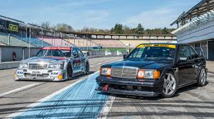mercedes revisits 190e evo ii in stunning dtm footage