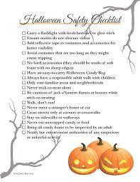 free printable halloween safety checklist swa rai halloween