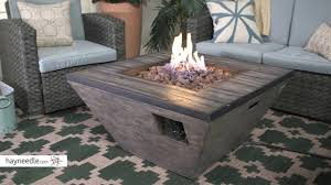 Ember Table Red Ember Tiburon Tapered Square 18 In Gas Fire Pit Table