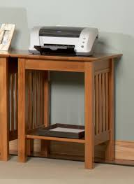 atlantic furniture mission printer stand with shelf by oj commerce
