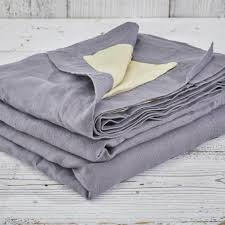 reversible pure linen bedspread throw by tolly mcrae