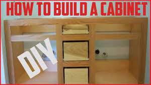how to build a cabinet diy project youtube