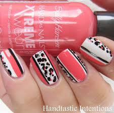 handtastic intentions nail art leopard and stripes