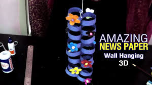 how to make news paper wall hanging diy room decorations best
