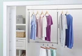plain design double hang closet rod 9 storage ideas for small