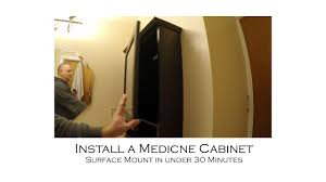 how to build a floating vanity cabinet how to install a surface mount medicine cabinet in under 30