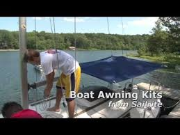 Awning Netting Awning Kit For Sailboat 10 U0027 X 18 U0027 Made With Sur Last Fabric Sailrite