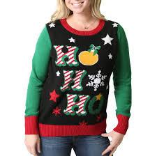 women u0027s u0027ho ho ho u0027 light up ugly christmas sweater u2013 ugly