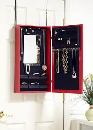 Over The Door Jewelry Cabinet Wall Mounted Jewelry Armoire Proman Products Bellissimo Venice