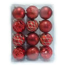 home accents holiday 80 mm shatterproof ornaments in red and gold