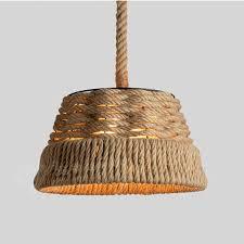 Woven Pendant Light Vintage Hemp Rope Woven Pendant Light W 7w Led Bulb Country
