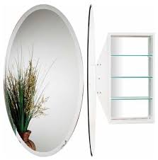 oval mirror cabinet white mc4910 w bathroom mirrors by knobdeco