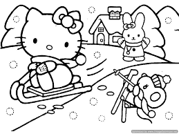 kitty christmas coloring pages snowman coloring pages