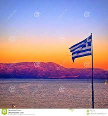 Greek Flag Background Greek Flag At Sunset Stock Image Image Of Proud Sunset 44620575