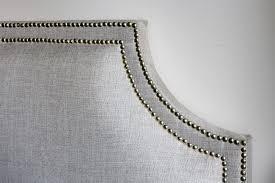 upholstered headboard nailhead trim home design ideas