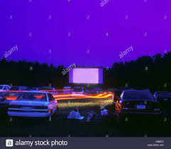 moonlite drive in movie theater brookville pennsylvania usa stock
