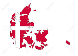 map flag of denmark royalty free cliparts vectors and stock