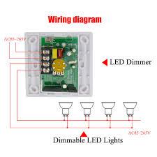 ac85 265v 200w led dimmer ir knob remote control switch for
