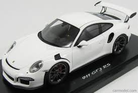 porsche white gt3 spark model wap0219120h scale 1 18 porsche 911 991 gt3 rs coupe