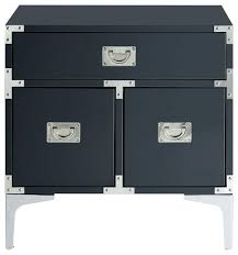 Modern Black Nightstands Modern Black Glass Side Table Tables Lacquer Finish Chrome Metal