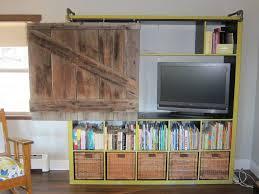 Bookshelf Entertainment Center 61 Sliding Bookshelf Door Diy Sliding Barn Door Ideas Diy Sliding