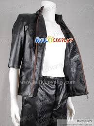 Resident Evil Halloween Costume Resident Evil 5 Cosplay Albert Wesker Costume Leather Coat Black
