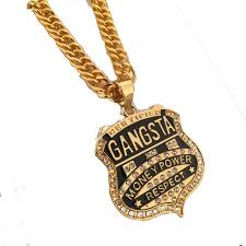 charm chains necklace images Mens fashion iced out trendy golden gangster pendant hip hop money jpg