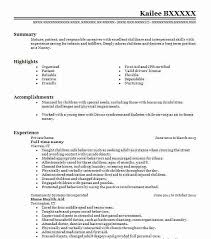 Interpersonal Skills For Resume Best Full Time Nanny Resume Example Livecareer