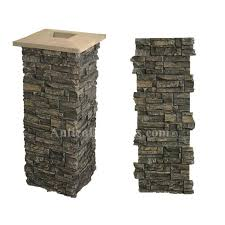 faux stone post wraps stone porch column covers 2