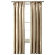 White Taffeta Curtains Liz Claiborne Gallery Taffeta Rod Pocket Curtain Panel
