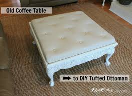 diy tufted ottoman bench youtube how to make a from coffee table