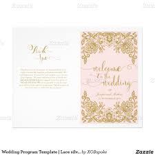 wedding ceremony programs templates wedding program template lace silver program template wedding