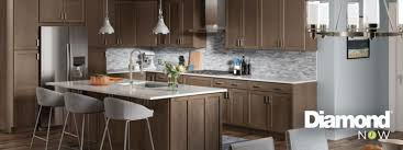 gray walls with stained kitchen cabinets shop in stock kitchen cabinets at lowe s