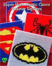 plastic canvas thanksgiving patterns super hero coaster plastic canvas pattern everyday parties