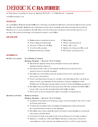 business analyst resume business analyst resume sles business resume exle best