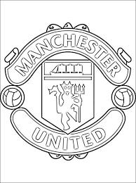 coloriage logo de foot les beaux dessins de sport à imprimer et